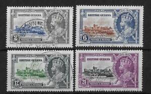 (11) Br Guiana 1935 Silver Jubilee SG301-304 Fine Used Cat£35