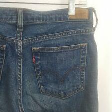 Levis 505 Blue Jeans Stretch Straight Leg Denim 8M 30x31
