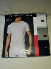 Tommy Hilfiger 3-Pack Men's Cotton Crew-Neck T-Shirt Undershirt size SMALL- NEW