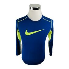 Nike Pro Combat Dri-Fit Fitted Long Sleeve Blue Activewear Shirt Boys Large L