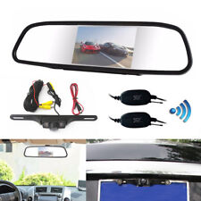 "Wireless Car SUV Rear View Kit 4.3"" LCD Mirror Monitor + IR Reversing Camera Kit"