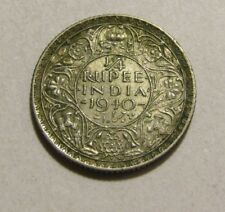 India-British 1940-B 1/4 Rupee Silver Coin