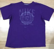 Nike Shirt Youth Large Purple Short Sleeve