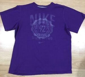 Nike Shirt Youth Large Purple Short Sleeve