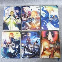 FATE ZERO Novel Set 1-6 GEN UROBUCHI Type-Moon Japan Book *