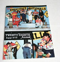 1988 28TH ANNUAL KNOXVILLE NATIONALS OFFICIAL PROGRAM STEVE KINSER JEFF GORDON