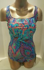Gottex Sierra Night Sky Maillot One Piece Swimsuit Size US 14 Bra C-CUP NWT