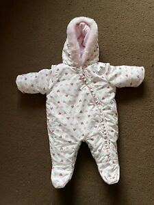 Baby Girls Pramsuit/Snowsuit Up To 1 Month