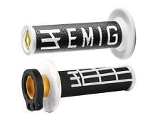 Revêtements Lock-On Odi Emig V2 Bicolores Noir/Blanc Semi-Gaufré 2 Temps