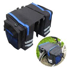 MTB Bike Bicycle Rear Rack Pannier Bags Waterproof Seat Box Saddle Carry Bag AU