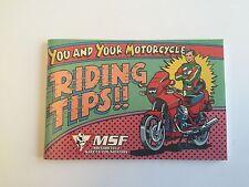 KAWASAKI YOU AND YOUR MOTORCYCLE RIDING TIPS MANUAL