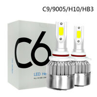 2X 9005 HB3 110W 16000LM COB LED Auto Scheinwerfer Birnen Nebel Lampe 8000K Blau