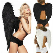 Adult Kid Angel Wings Feather Fairy Masquerade Party Fancy Dress Costume Cosplay