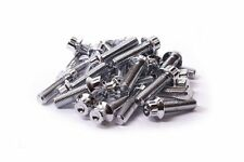 80x Chrome Split Rim Bolts M7 x 24mm BBS RM OZ Wheels 10.9 High Tensile Steel