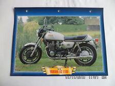 CARTE FICHE MOTO YAMAHA XS 1100 1978
