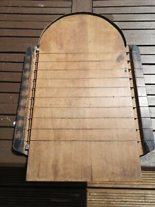 ANTIQUE VINTAGE RARE Wooden Shove Ha'Penny Halfpenny Board WITH LIFT UP MARKERS