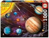 Educa NEON SOLAR SYSTEM 1000 piece PUZZLE Glow in the Dark PLANETS Space