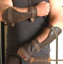 Medieval Cosplay Riddick Forearm Warrior Armor Gladiator Leather BracerS