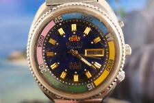 Sporty Jumbo Orient SS Diver's 46 mm Mens Day Date Navy Blue Dial Automatic