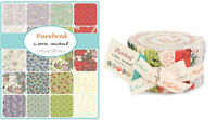 Moda Fabric Purebred Jelly Roll - Patchwork Quilting 2.5 Inch Strips