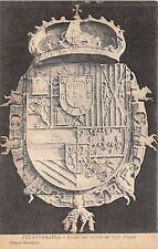 B93458 escudo del castille del cabo higuer   fuenterrabia postcard    spain