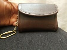 EXCELLENT Vintage COACH Brown Leather KEY CHAIN CARD CASE COIN WALLET