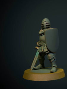 Tabletop Miniature Foot Soldier 28mm For Warhammer/Age Of Sigmar / Dnd
