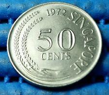 1972 Singapore 50 Cents Lion Fish Coin