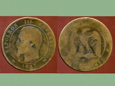 FRANCE  FRANCIA  10 centimes NAPOLEON III   1857  W
