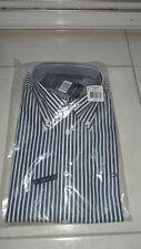 Chemise Tommy Hilfiger ML coupe droite bleu marine et blanc motif à rayures - L