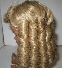 "Vintage synthetic U.S.A. made blond doll wig to fit 7""circumference head -unused"
