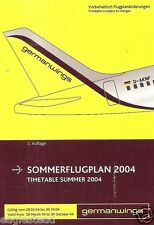 Airline Timetable - Germanwings - 28/03/04 - Issue 2 - S