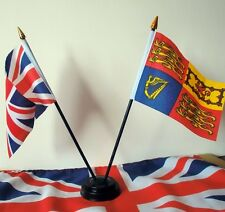 Royal Standard & Union Jack Table Flag Set Royalty British Monarchy Flags UK