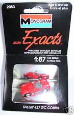 EXACTS MONOGRAM HO 1/87 SHELBY 427 S/C COBRA ROUGE BOX