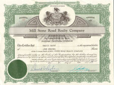 Mill Stone Road Realty Company > Pennsylvania stock certificate share