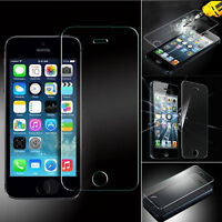 100% Genuine Tempered Glass Anti Scratch Screen Protector Apple iPhones 5S 5 New