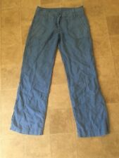 Escales Yachting Blue Pant Trousers size 36 Paris Linen 30
