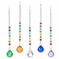 Crystal Suncatcher Handmade Glass Pendants with 30MM Balls Hanging Ornament Gift