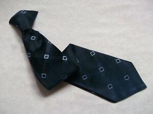 Mens Tie CLIP ON Necktie Vintage Retro Office Security Navy Blue by SNAPPER