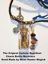 @sshole Repellent© Banishing Charm Bottle Necklace Pagan Amulet Talisman