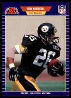 1989  Pro Set #354 Rod Woodson HOF ROOKIE Pittsburgh Steelers / Purdue