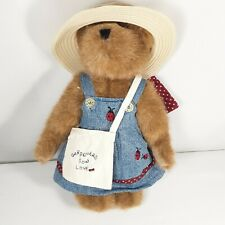 "Boyds Bears Martha S. McBruin Gardner 10"" Bear Retired Stuffed Animal Plush"
