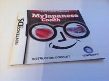 (NO GAME) My Japanese Coach DS Instruction Book Manual Only