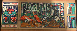 Pearl Jam Seattle 2018 concert gig poster Brad Klausen Home Shows 1st edition