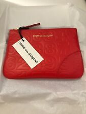 Comme Des Garcons Orange Leather Coin Purse