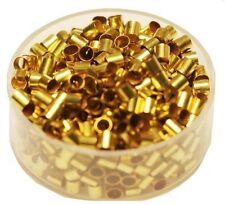 3 x 3  MM  Brass Crimp Beads Hole 2.5 MM  Pkg. Of 100  Solid Raw Brass