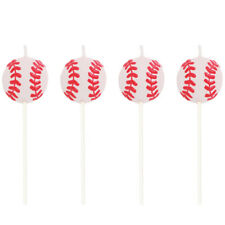 All-Star Baseball Pick Candles 4 Pack Birthday Party Decoration
