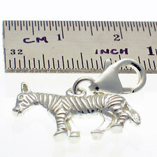 Sterling 925 Solid Silver British Clip On Charm Zebra by Welded Bliss
