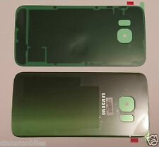 SAMSUNG G925F GALAXY S6 EDGE BACK BATTERY COVER ORIGINAL GENUINE ADHESIVE GREEN