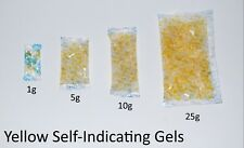 Yellow SELF INDICATING - Silica Gel Desiccant Sachets - Moisture Absorber